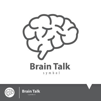 Brain Talk Icon Symbol Stock Illustration - Download Image Now