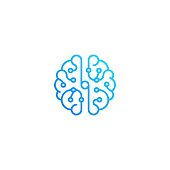 istock Brain technology top view. Vector icon template 1180848753