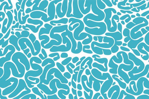 ilustraciones, imágenes clip art, dibujos animados e iconos de stock de textura del cerebro - brain