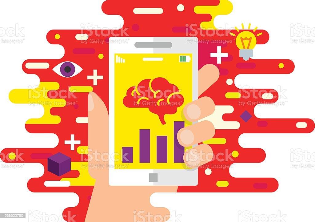 Cerebro Capacitación Aplicación Móvil La Educación En Línea De ...