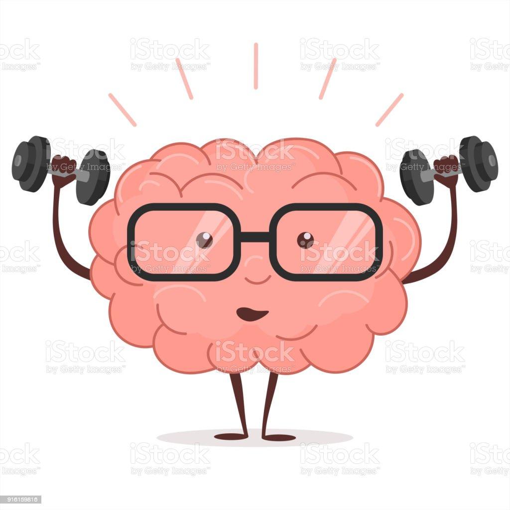 Entrenamiento Cerebral Con Pesas Y Gafas Vector De - Arte vectorial ...