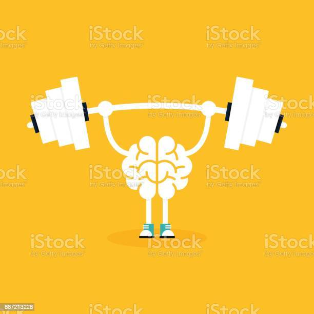 Brain training with weightlifting flat design creative idea concept vector id867213228?b=1&k=6&m=867213228&s=612x612&h=tuwb pew mr3pgozee9spuwj8knlwbav w4 0ztm fa=
