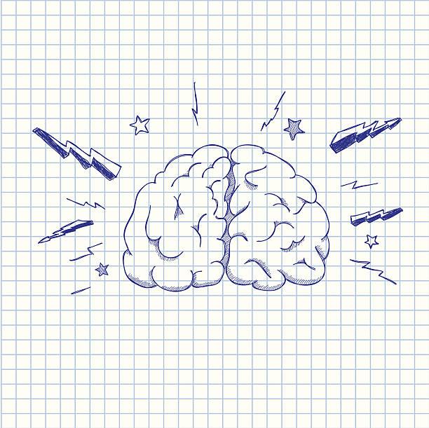 Cérebro - ilustração de arte em vetor
