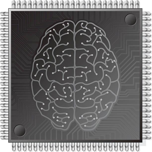 cpu gehirn - sensorischer impuls stock-grafiken, -clipart, -cartoons und -symbole