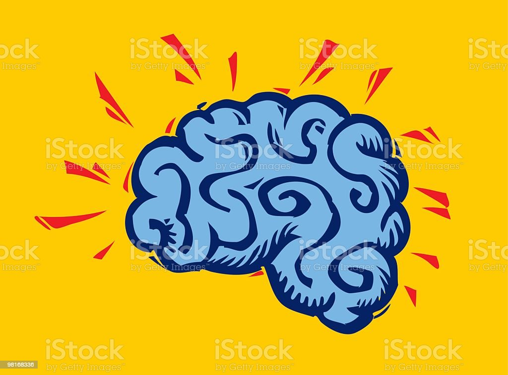 Brain royalty-free brain stock vector art & more images of blue