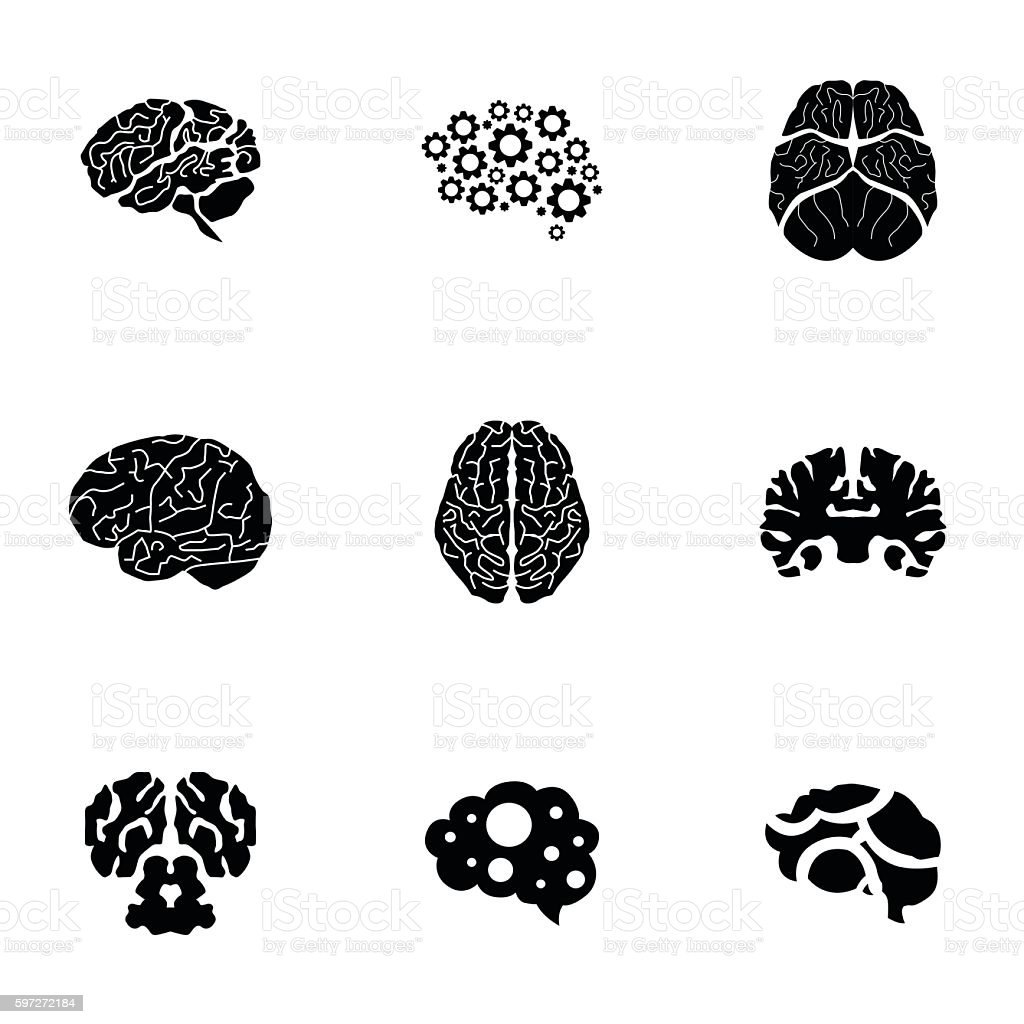 Brain vector set royalty-free brain vector set stock vector art & more images of anatomy