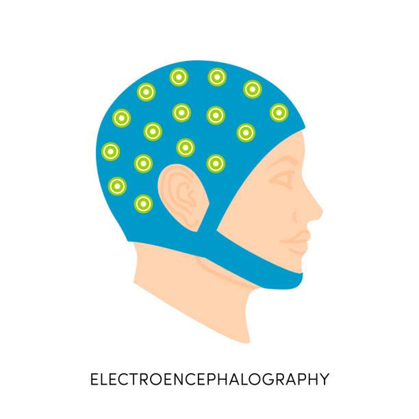 illustrazioni stock, clip art, cartoni animati e icone di tendenza di brain waves vector icon - elettrodo