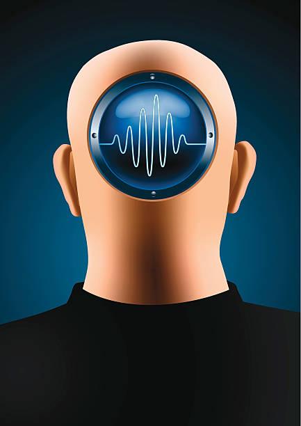 Brain waves vector art illustration