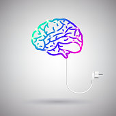 Brain with Electric Wire and Plug