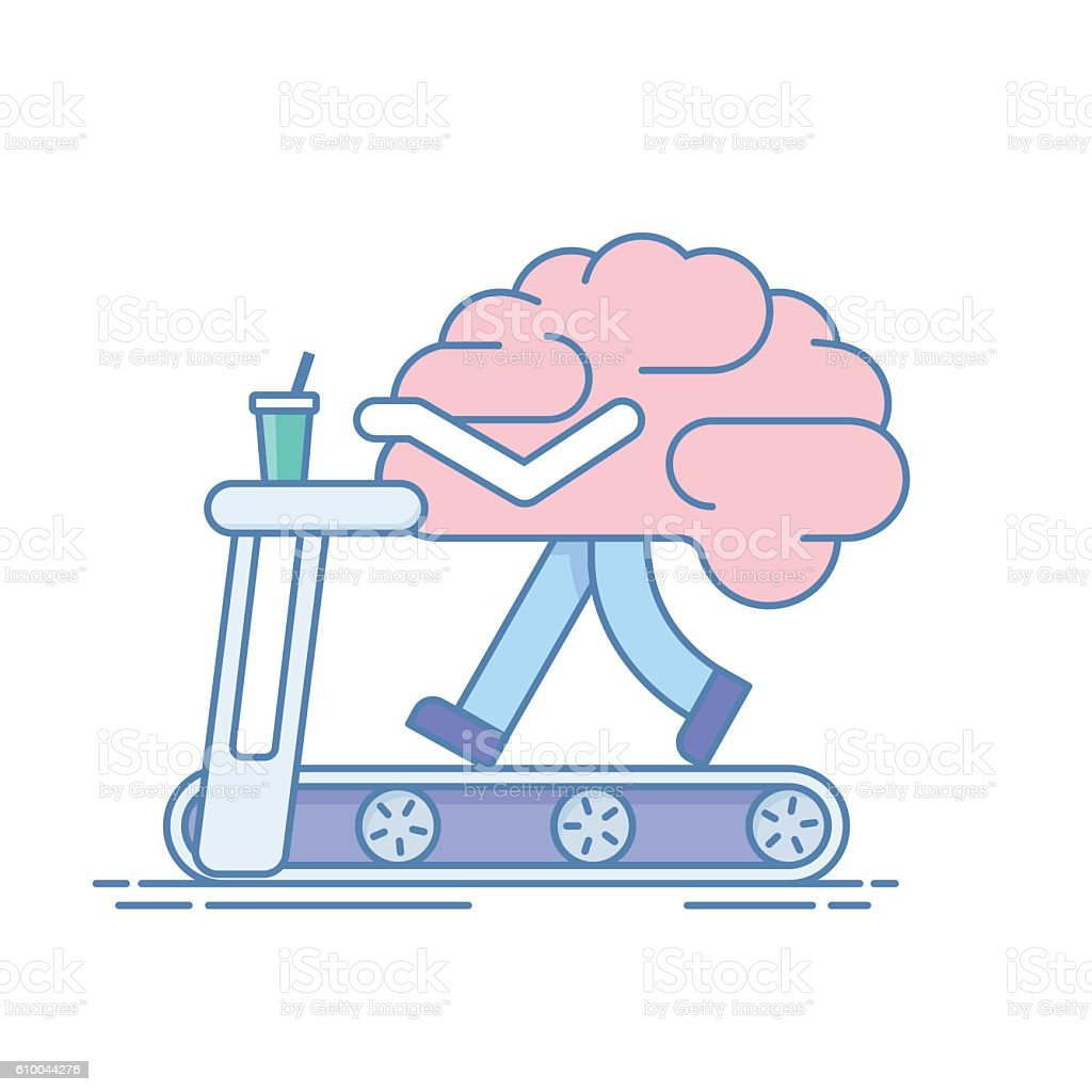 Brain Workout. The concept of  activity. Training or sports activities vector art illustration