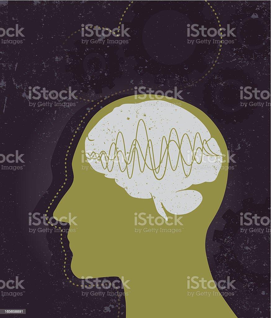 Brain works vector art illustration