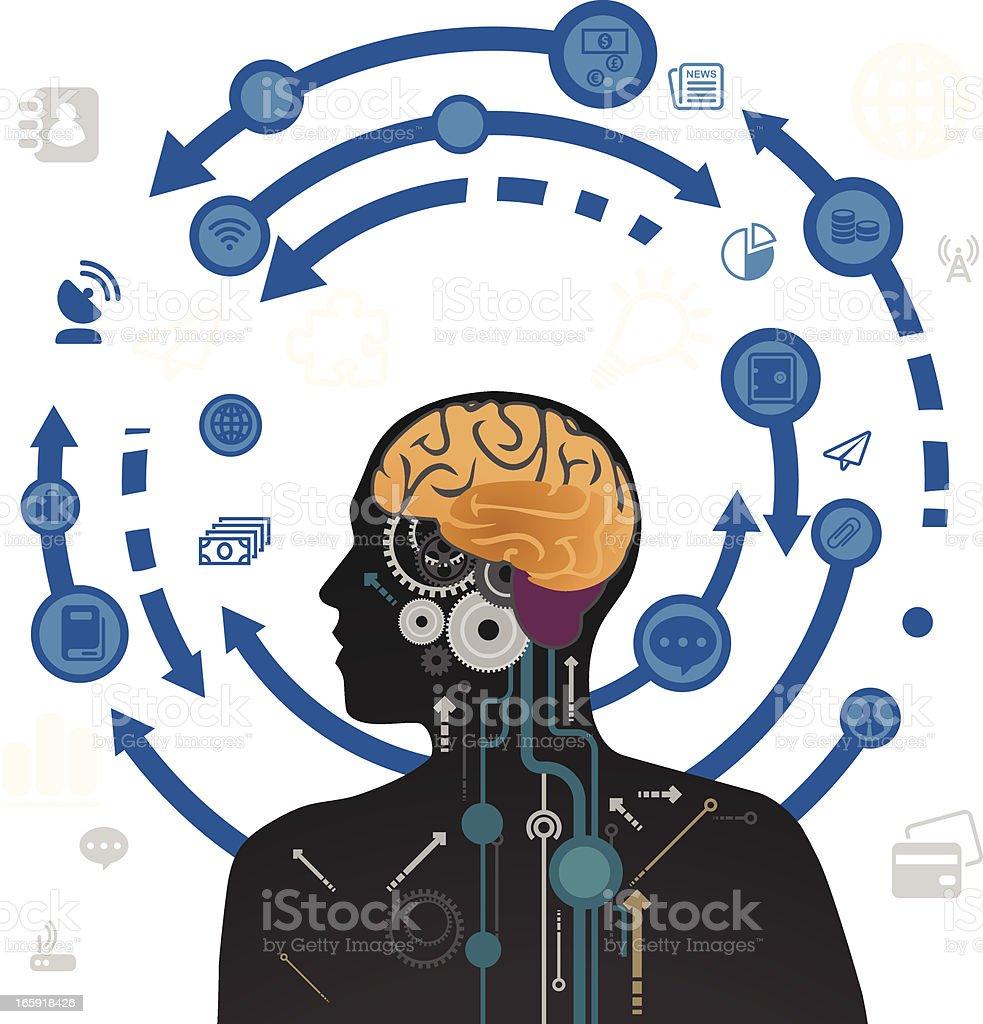 Brain Works royalty-free stock vector art
