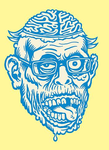 Brains Creature Wearing Glasses