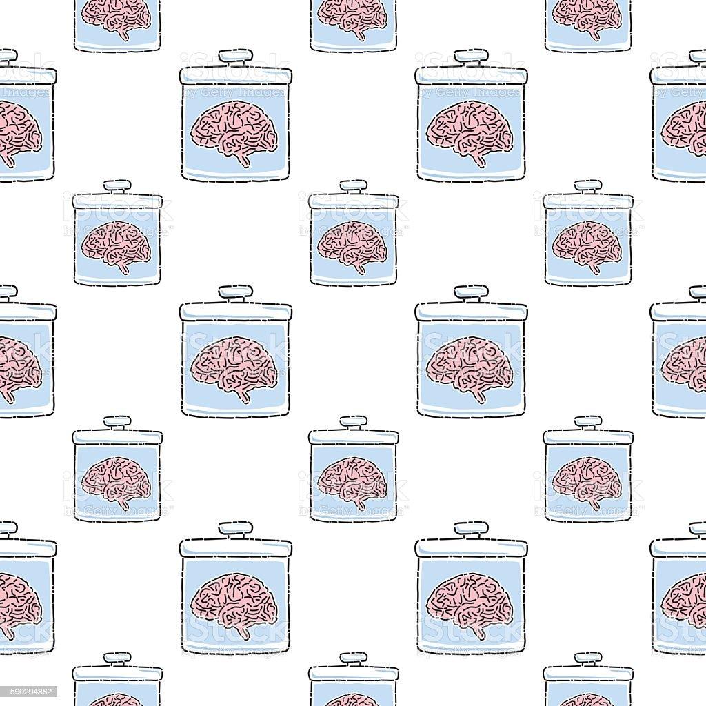 Brains In Jars Pattern royaltyfri brains in jars pattern-vektorgrafik och fler bilder på behållare