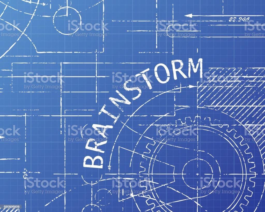 Brainstorm Blueprint Machine Stock Vector Art & More Images of ...