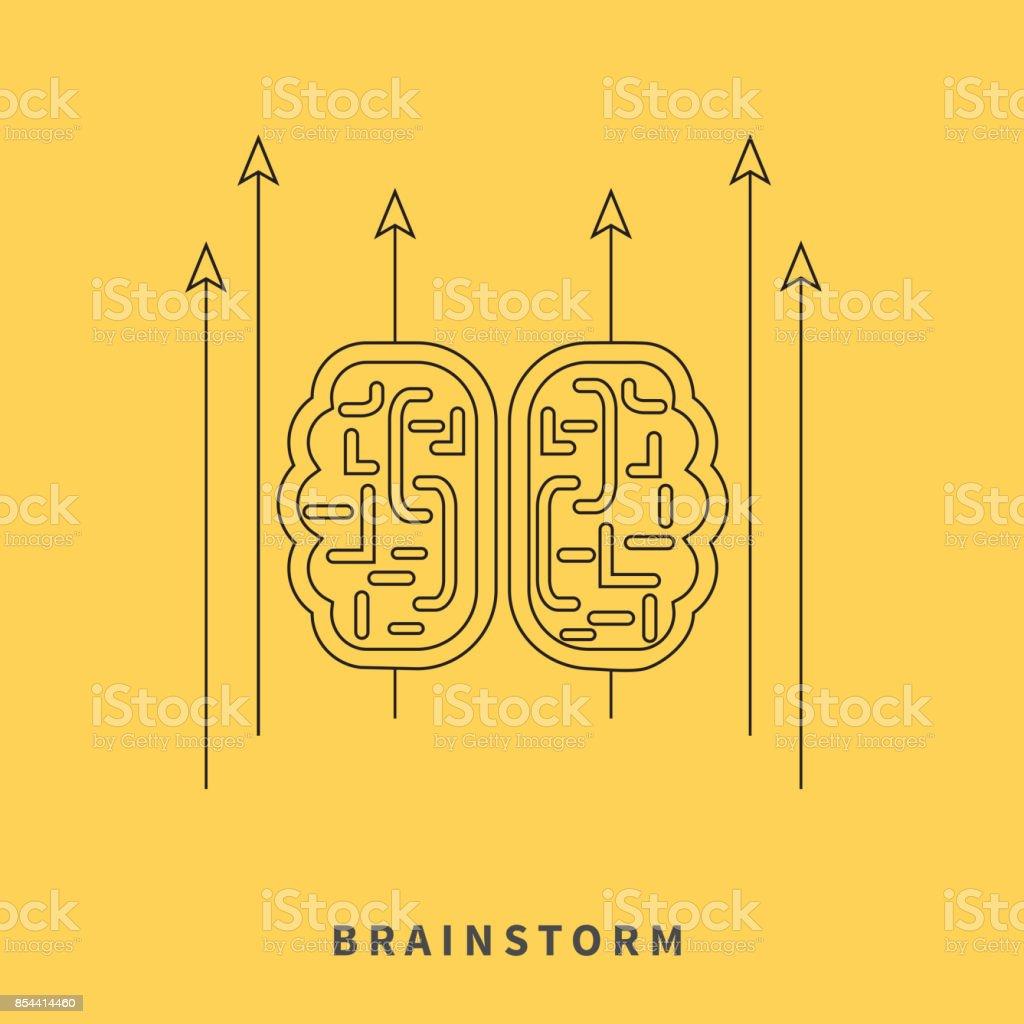 Brainstorm Design Flat Concept Stock Illustration Download Image Now Istock