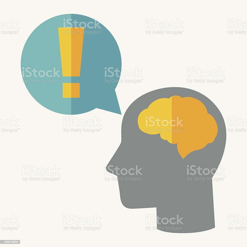 Brainstorm idea concept illustration in flat style. vector art illustration