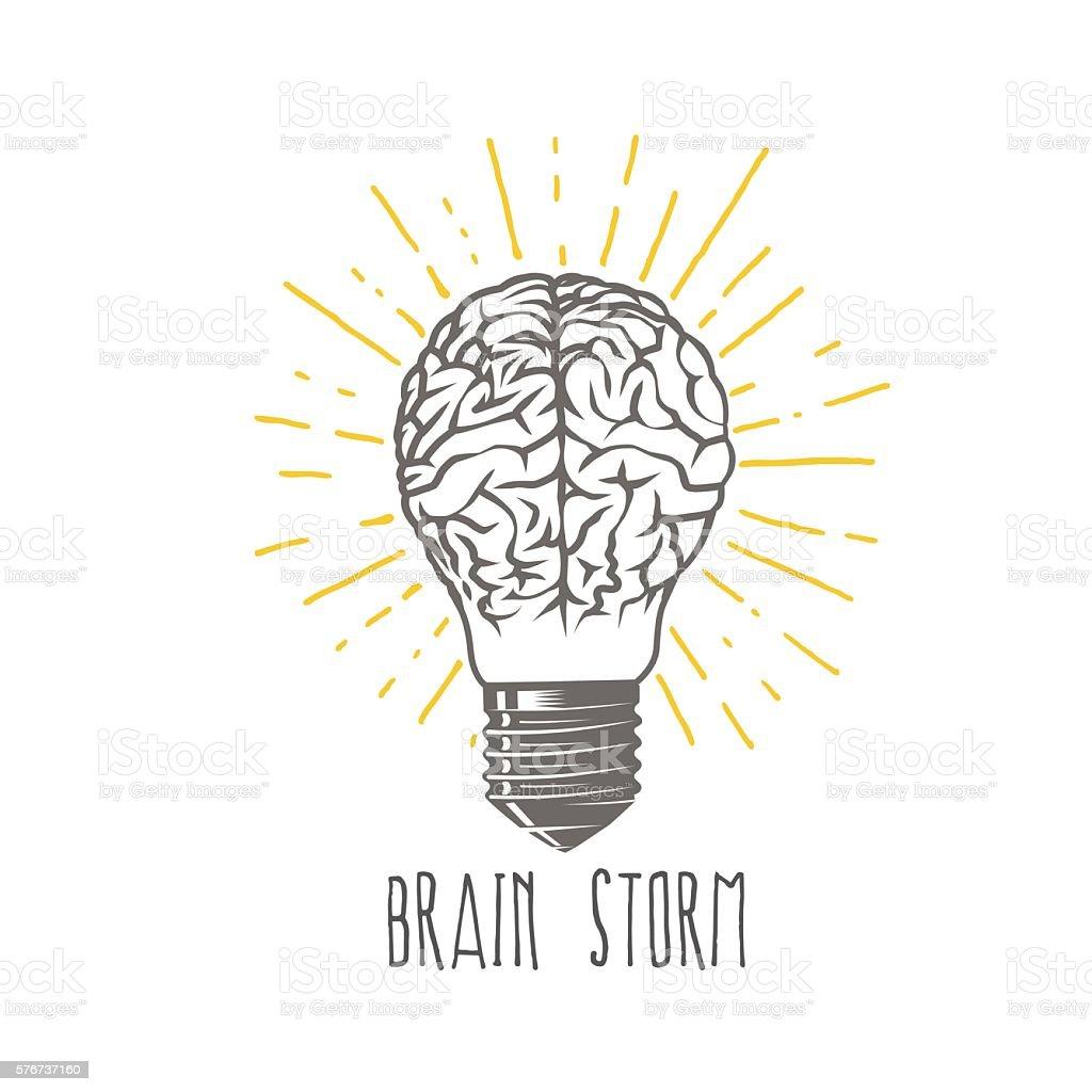 Brainstorm vector art illustration
