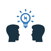 Brainstorming, business idea, thinking icon. Beautiful, meticulously designed icon. Well organized and editable Vector for any uses.