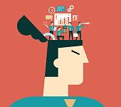 Business people creative mind