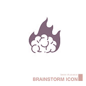 Brainstorming concept design. Isolated on white background.
