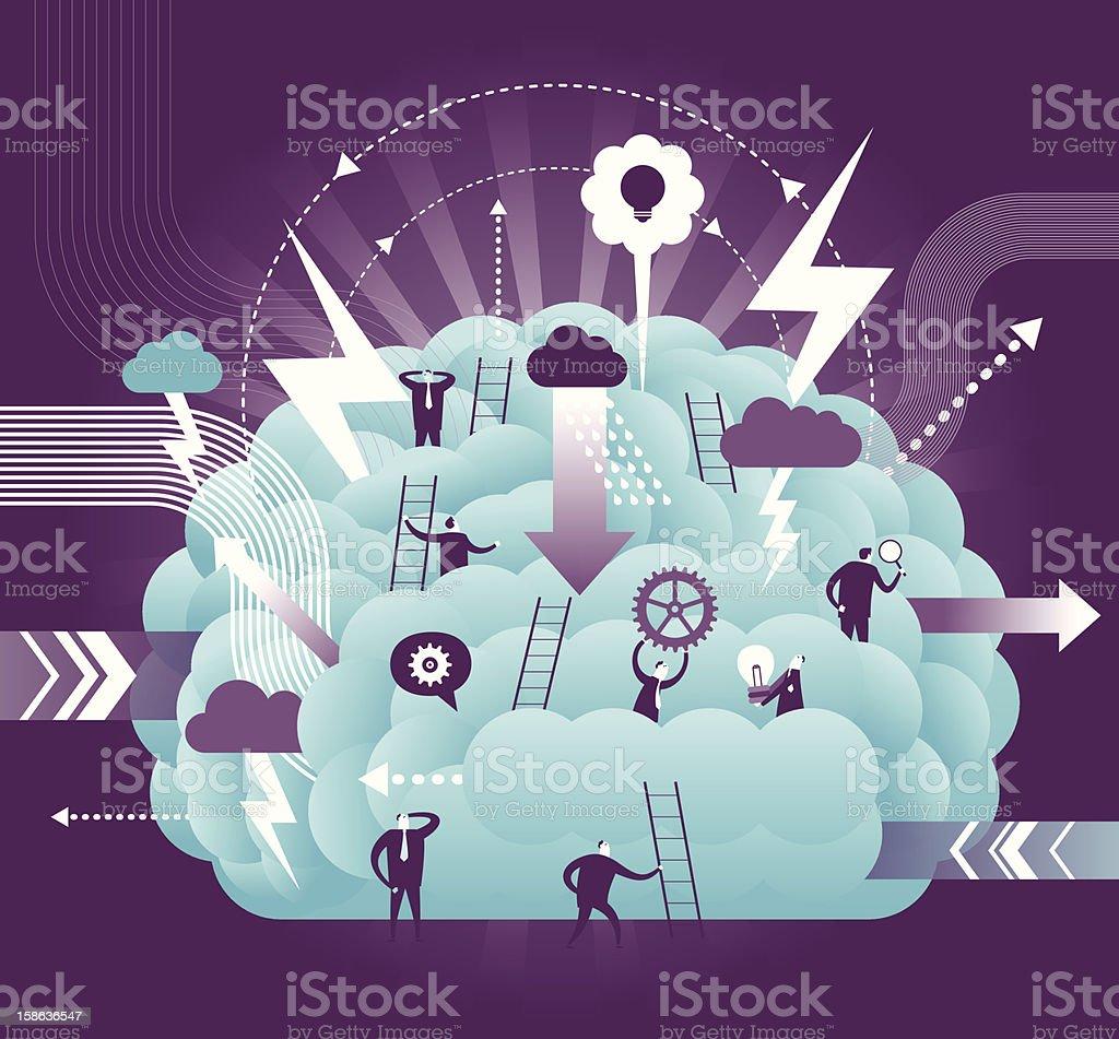 Brainstorming Concept vector art illustration