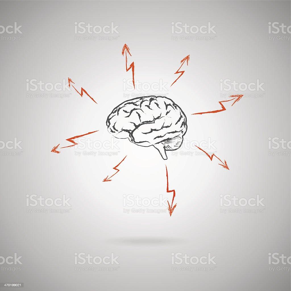 Brainstorming-Konzept - Lizenzfrei Betrachtung Vektorgrafik
