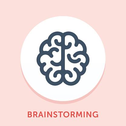 Brainstorming Curve Icon