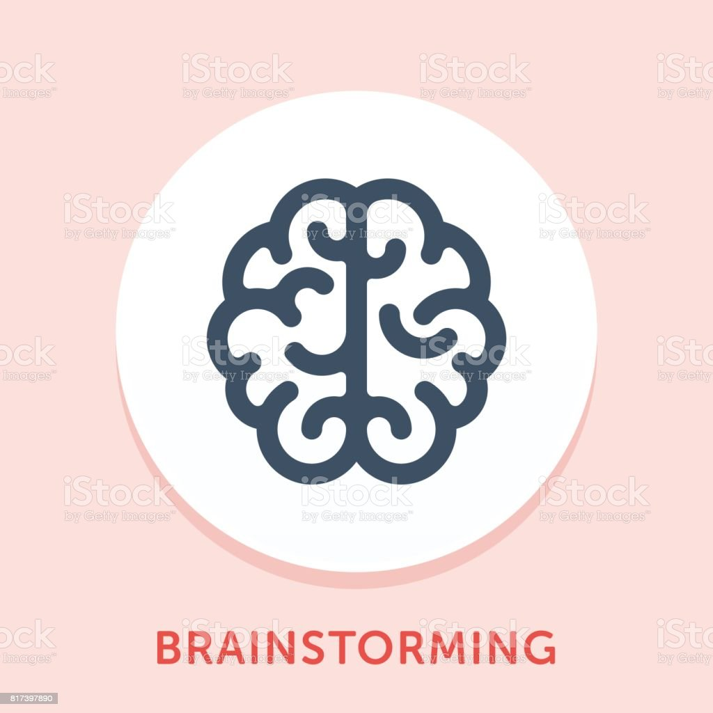 Brainstorming Curve Icon vector art illustration