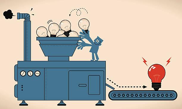 brainstorming - machine stock illustrations, clip art, cartoons, & icons
