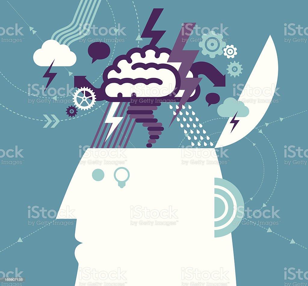 Desenvolvimento de ideias - ilustração de arte em vetor