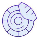 Brake discs flat icon. Brake shoe blue icons in trendy flat style. Car part gradient style design, designed for web and app. Eps 10