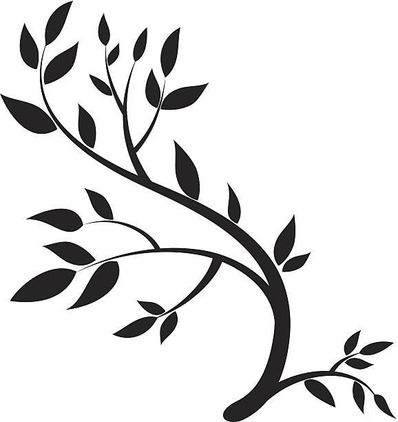 Branch Design vector art illustration
