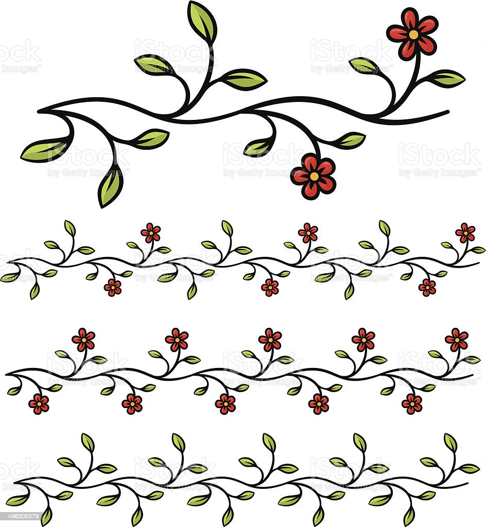 Branch Blumen – Vektorgrafik