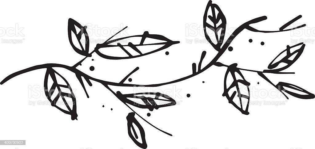 Branch of tree vector art illustration