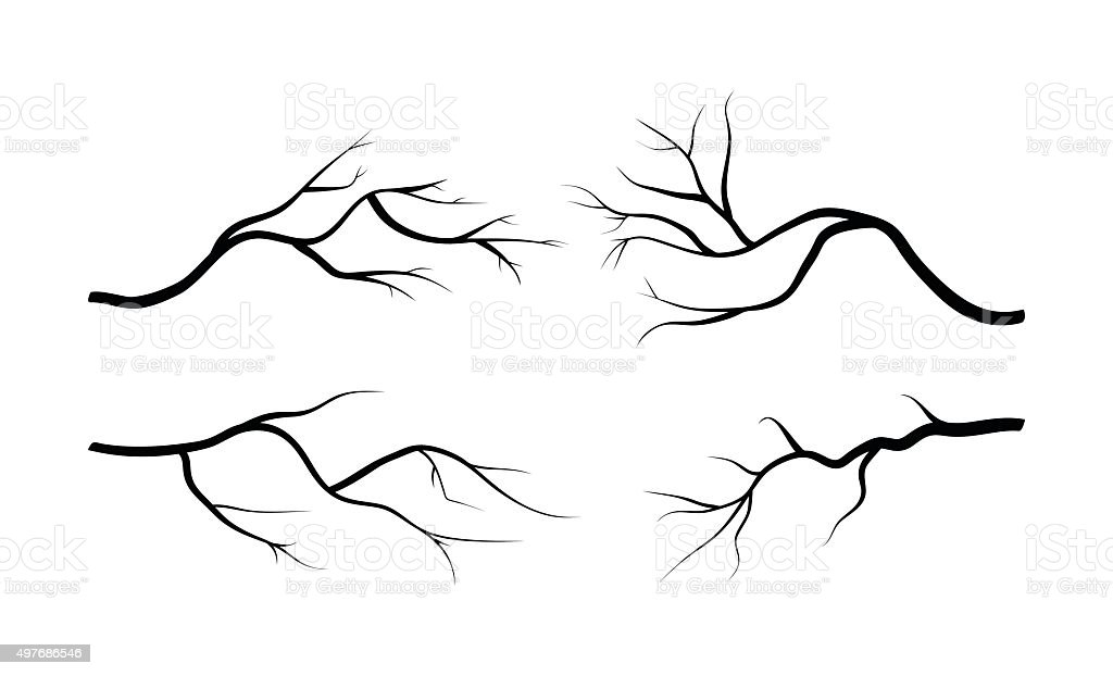 branch silhouette icon, symbol, design. vector vector art illustration
