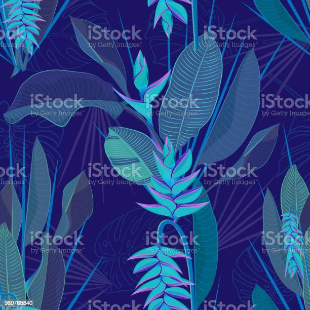 Branch tropical heliconia flower leaves seamless background drawing vector id960768840?b=1&k=6&m=960768840&s=612x612&h=msafk0sk6fyr echkfp37ehjfkinxdhcgmjzjt659ag=