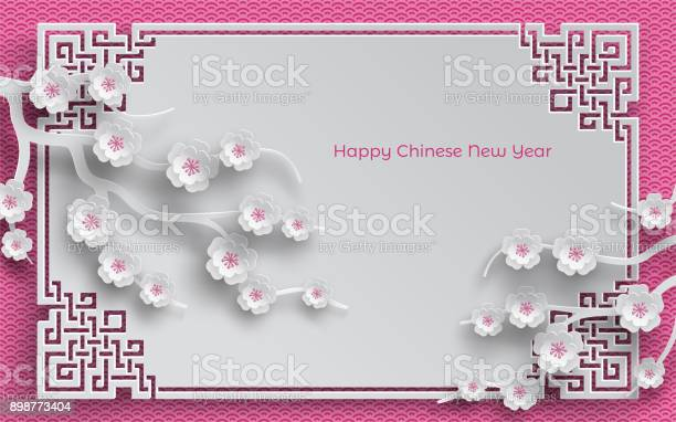 Branches of cherry blossoms oriental frame on pink pattern background vector id898773404?b=1&k=6&m=898773404&s=612x612&h=hboczifivow7es ob7yf g8dcpaayg egkh0umkziws=