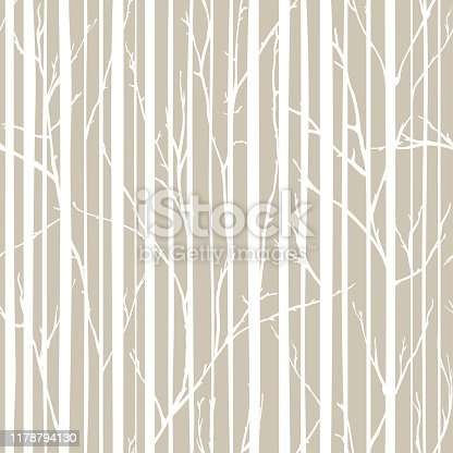istock Branches of trees intertwine. Seamless pattern natural theme. Branches and stripes pattern 1178794130