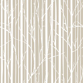 Branches of trees intertwine. Seamless pattern natural theme. Branches and stripes pattern.