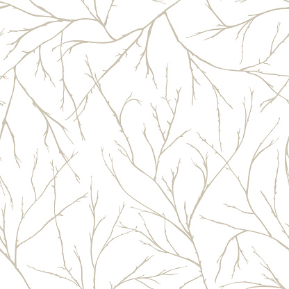 Branches of trees intertwine. Seamless pattern natural theme