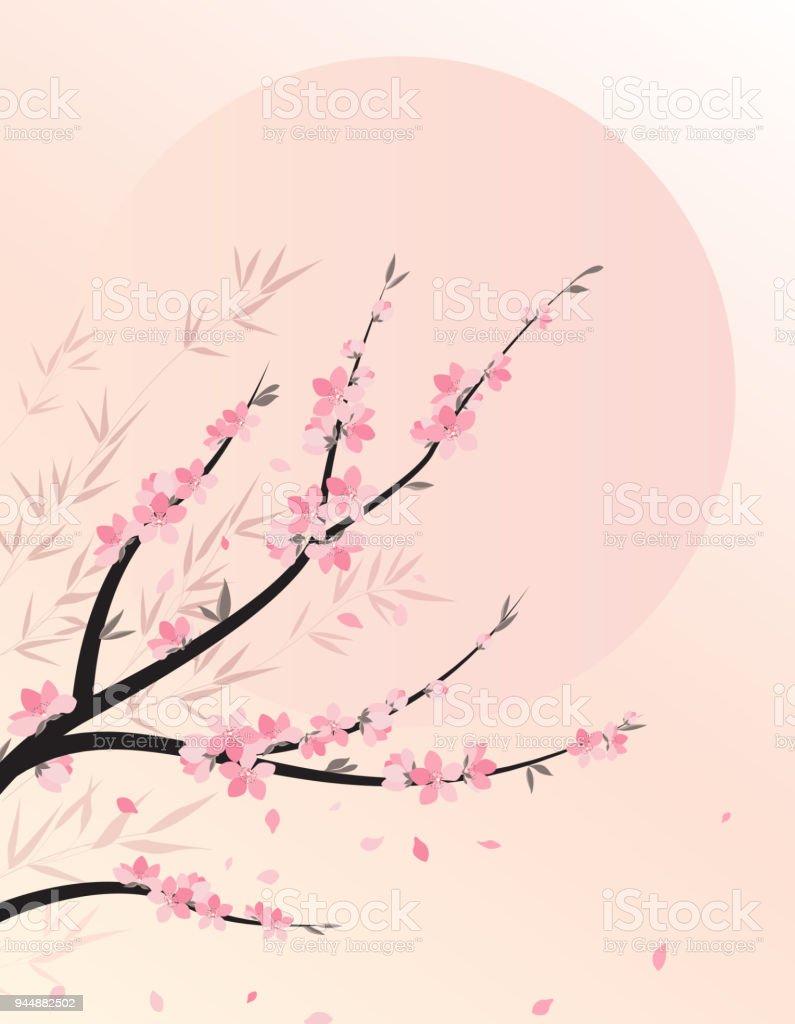 Äste Mit Blumen Stock Vektor Art und mehr Bilder von April 944882502 ...