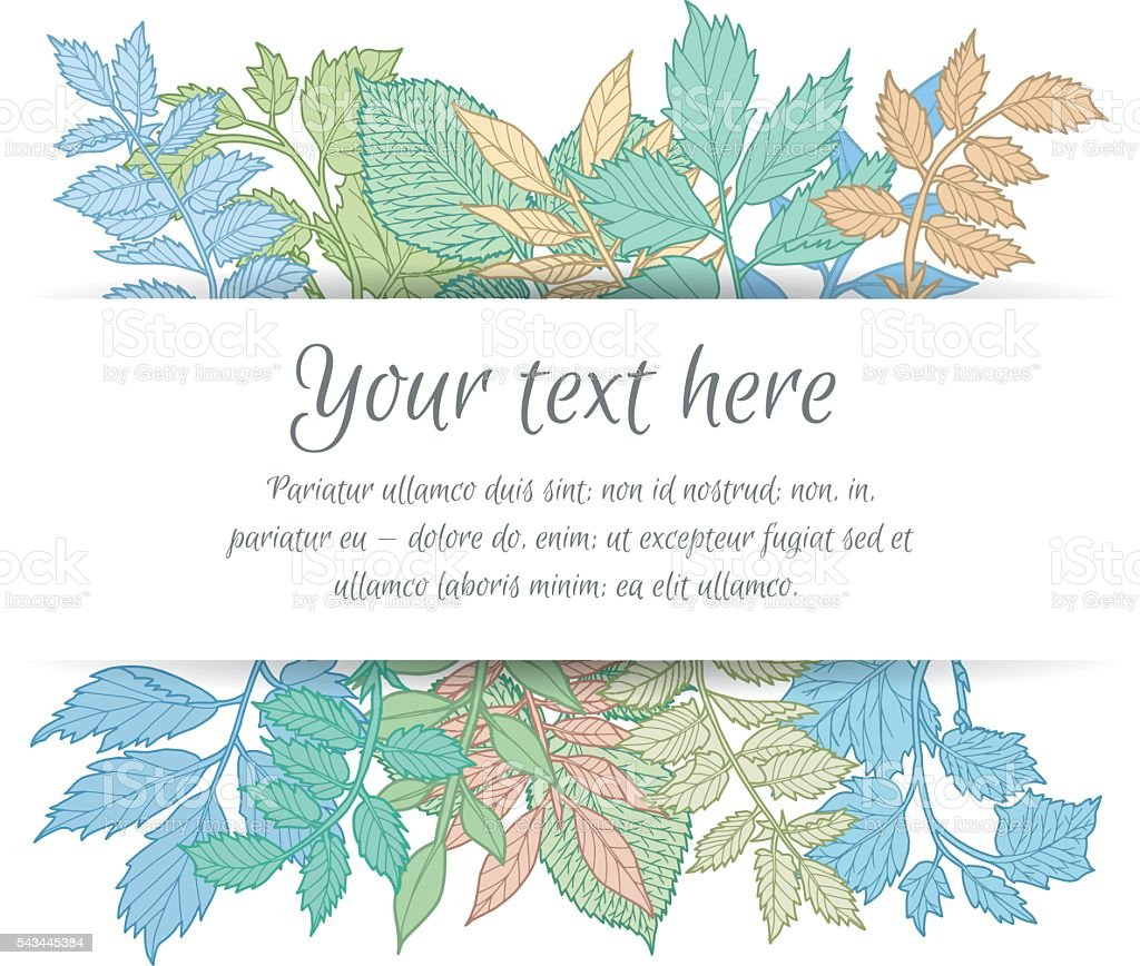 Branches with leaves floral invitation stock vector art more branches with leaves floral invitation royalty free branches with leaves floral invitation stock vector art stopboris Images