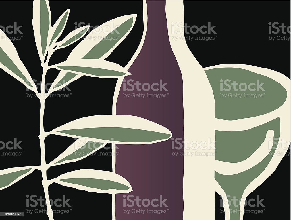 branch/wine royalty-free stock vector art