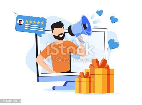 Brand ambassador abstract concept vector illustration. Official brand representative, trademark ambassador, marketing strategy, media figure, public relation persona, influencer abstract metaphor.