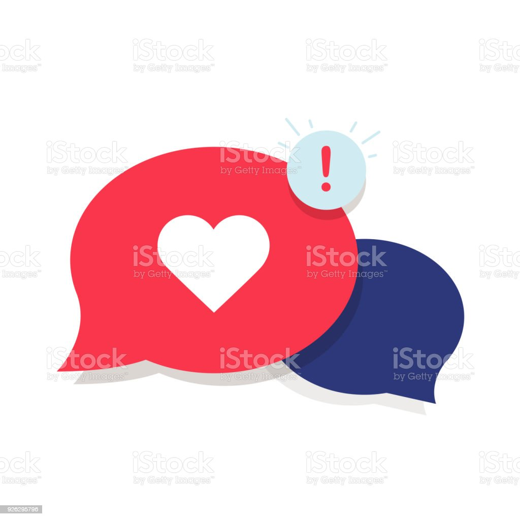 Brand Ambassador Chat Speech Bubble Icon and Influencer Marketing Representative. Love chat or client oriented vector art illustration