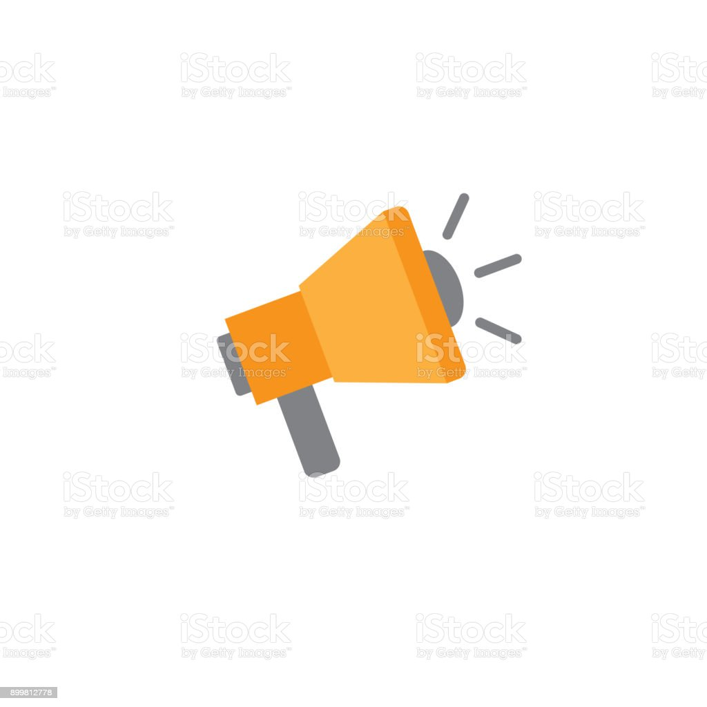 Brand Ambassador Icon with Megaphone, & Influencer Marketing Representative vector art illustration