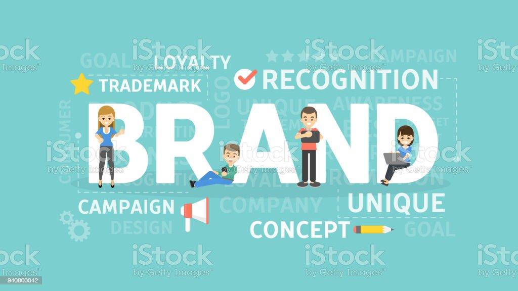 Brand concept illustration. vector art illustration