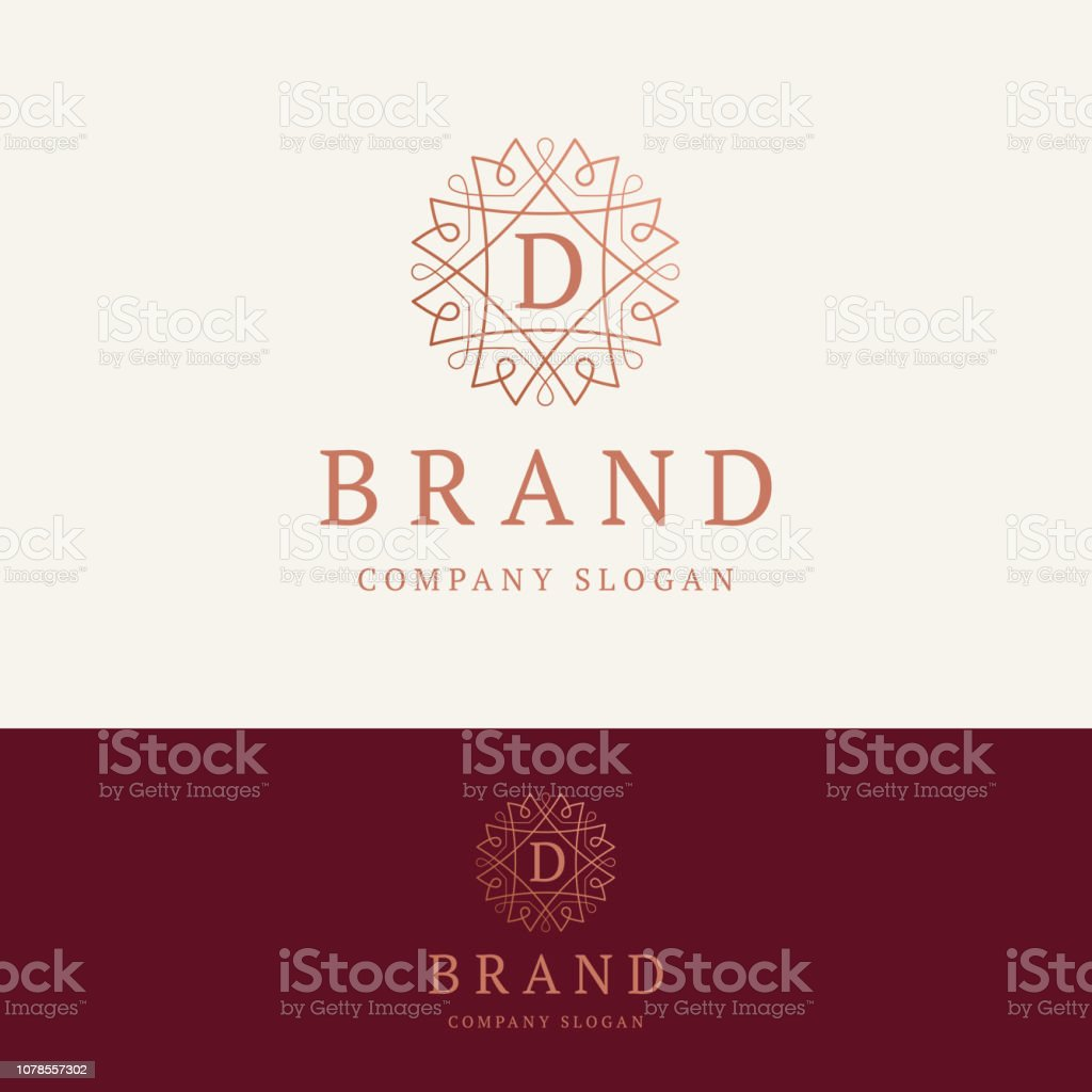 D brand emblem векторная иллюстрация