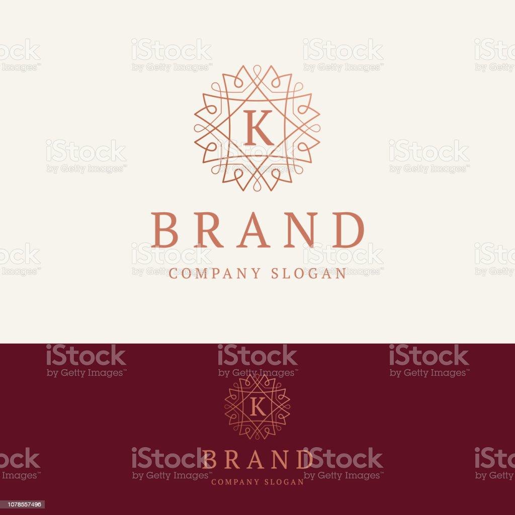 K brand emblem векторная иллюстрация